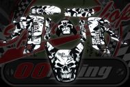 Graphics kit. CRF50 OR KLX. Skull