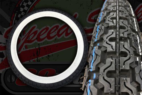 Tyre. White wall Kenda 2.75-17 41P