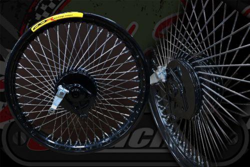 "Wheel kit 72 spoke black rims 17"" x 1.85 R 17"" x  1.60 F"