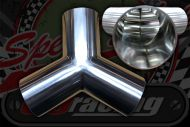 Stainless 304 exhaust/inlet pipe Y Piece OD 19mm - 76mm