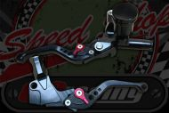 Brake. Master cylinder and clutch lever CNC billet with adjustable levers BLACK