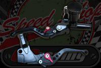 Brake. Master cylinder and clutch lever CNC billet with adjustable levers BLACK