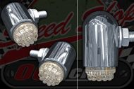 Flasher LED. Billet Steel housing. Dim/Bright function