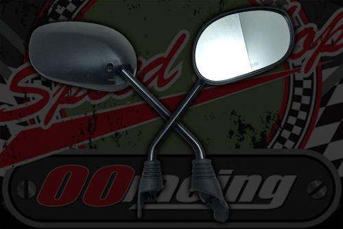 Mirror. Pair Oval Black ABS plastic
