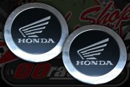 Tank badge. Round wing black/silver.