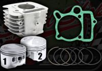 Cylinder kit. 56mm bore. 2 Valve. Stock or High comp. YX 140