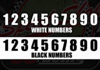Race numbers 145mm black or white