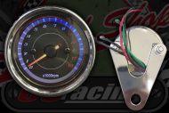 Clock. Rev counter. 60mm. Black face. Black bezel. 0 - 13,000 rpm