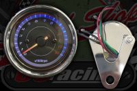 Clock. Rev counter. 60mm. Black face. 0 - 13,000 rpm