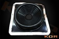 """Roof flashing for flat or corrugate Rubber 280mm x 280mm 3"""" into 7"""""""