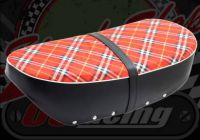 Seat. Dax 12V. Tartan. Suitable for use with DAX 12V
