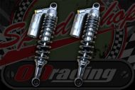 Shocks, piggy back Silver/Chrome springs 330mm