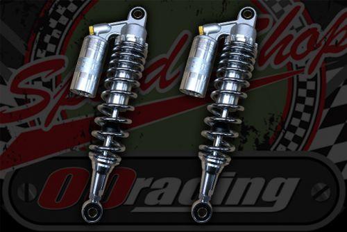Shocks, piggy back Silver/Chrome springs 330mm