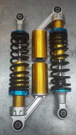 Shocks. Twin. 330mm. Leaked oil. No Damping