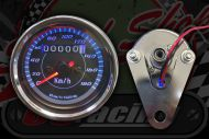 Clock. Speedo. 60mm. Black face. 180 Km/h