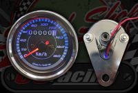 Clock. Speedo. 60mm. Black face. 180 Km/h