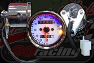 Clock. Speedo. 60mm. White face with warning lights. 160KM/H