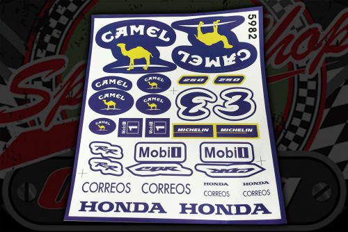Sticker set.  25 pieces. 23cm x 26cm. Decal. Decals