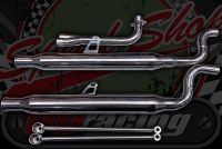Exhaust Twin CUB stainless Slim low line system