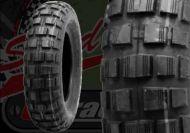 "Tyre. Bridgestone. 3.50 x 8"". Trail wing."