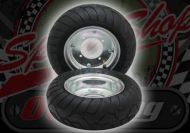 "Wheel. 6"" kit 13 x 5.00 -6 Qind tyres"