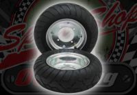 """Wheel kit. 6"""". With swing arm. 13 x 5.00 6"""" Qind tyres"""