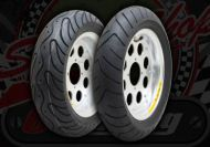 Wheel kit. 10 inch 8 hole Pepper pots. Vee rubber tyres
