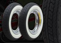 Wheel kit. STEEL CHROME rims. White wall. Shinko tyres. Suitable for DAX