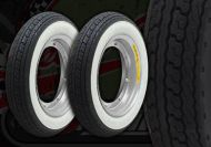 Wheel kit. STEEL rims. White Wall. Shinko tyres. Suitable for DAX
