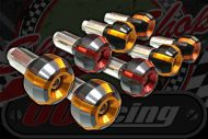 Handlebars. Bar end weights CNC section billet steel or alloy bar fitment