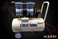 Silent compressor parallel twin pumps 30 litre oil free OTS-750