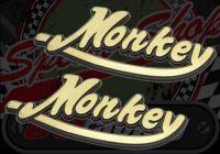 Badge. Tank. Raised.  Says 'Monkey'