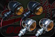 Flasher Retro. MINI CHROME OR BLACK. 12V. Mini
