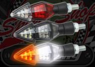 Flasher & rear or front side light in one black 12v LED Red or Clear Lens
