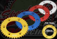 Sprocket. Rear. 428 pitch. 37T or 39T. Suitable for Madass 125cc or late 50cc