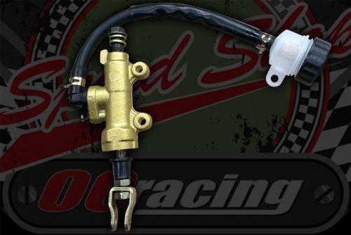Master cylinder. Rear with remote res gold M10 banjo