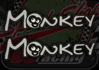 Tank badge. Decal. Monkey.