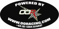 Badge. Decal. Oval side panel. OORacing. Sticker