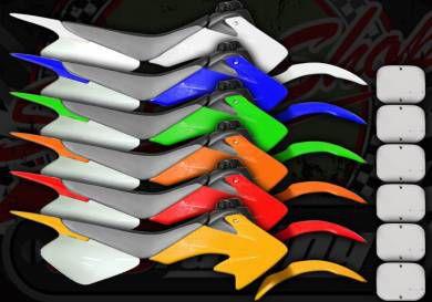 Plastics pro flex kits CRF50 Pitbike style only orange and green
