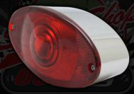Light. Rear. Oval. chrome. Tail and stop light
