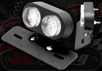 Rear light unit twin LED 12V & number plate holder