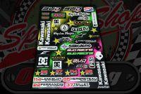 Sticker set. 41 Piece. 31cm x 44cm. Decal. Decals