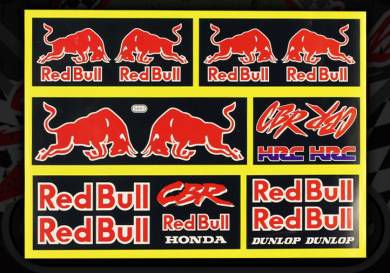 Sticker set. 6 Piece. 17cm x 21.5cm. Decal. Decals