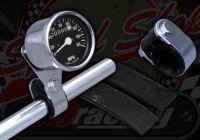 Bracket. Speedo or Rev counter. Handle bar. 7/8th (22mm) or 1